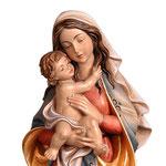 statua Madonna della Pace in legno - volto