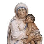 statua Madre Teresa di Calcutta in legno - volto
