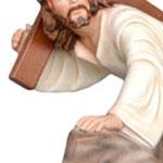 statua Gesù cadente cm 23 -mani