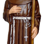 statua San Padre Ludovico da Casoria cm 185 -mani