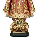 statua Gesù Bambino di Praga in legno - base