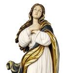 statua Madonna Assunta al Murillo in legno - volto