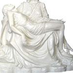 statua Madonna Pietà cm 130 bianca - Gesù