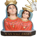 busto Madonna dell'Arco cm 35 - base