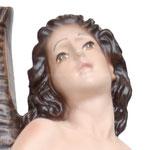 statua San Sebastiano cm 28 -volto