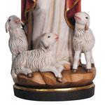 statua Gesù buon pastore in legno - base