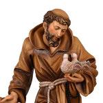 statua San Francesco d' Assisi in legno - volto