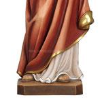 statua Sacro Cuore di Gesù in legno - base