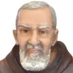 statua San Padre Pio cm 40 -volto
