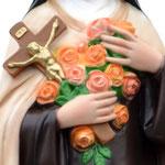 statua Santa Teresa cm 62 - mani