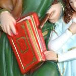 vendita statua Sant' Anna cm. 42 in resina - mani