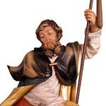 statua Sant' Isidoro in legno - volto