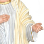 statua Madonna di Medjugorje cm 130 - mani