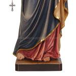 statua Madonna del rosario in legno - base