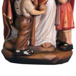 statua Gesù con bambini in legno - base