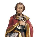 statua San Pietro in legno - volto