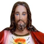 statua Sacro Cuore di Gesù braccia aperte cm 85 -volto