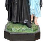 statua San Vincenzo de Paoli cm 110 -base