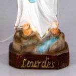statua Madonna di Lourdes cm 30 illuminata - base