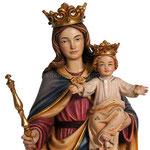 statua Madonna Ausiliatrice in legno - volto