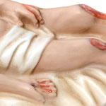 statua Gesù morto cm 27 -mani