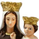 statua Madonna del Carmine cm 42 - volto