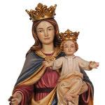statua Madonna del rosario in legno - volto