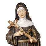 statua Santa Rita in legno - volto