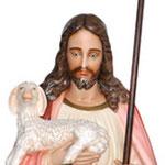 statua Sacro Cuore di Gesù buon pastore cm 160 -volto