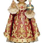 statua Gesù Bambino di Praga in legno - busto