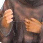 statua San Padre Pio cm 40 -mani