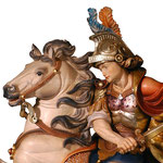 statua San Martino a cavallo in legno - volto