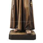 statua San Francesco d' Assisi in legno - base