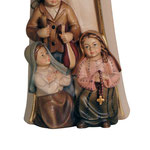 statua Madonna di Fatima con pastorelli in legno - base