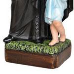 statua San Vincenzo de Paoli cm 60 -base
