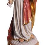 statua Sacro Cuore di Gesù con particola in legno - busto