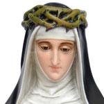 statua Santa Caterina cm 80 - volto