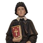 statua Santa Elisabetta Anna Seton in legno - volto