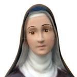statua Santa Caterina cm 40 - volto