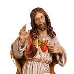 statua Sacro Cuore di Gesù in legno - volto