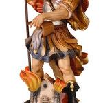 statua San Floriano in legno - busto