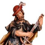 statua Sant' Uberto in legno - volto