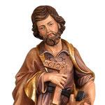 statua San Giuseppe artigiano in legno - volto