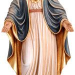 statua Sacro Cuore di Maria in legno - busto