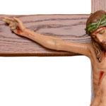 statua Cristo in croce cm 70 -mani
