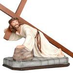 statua Gesù cadente cm 23 -base