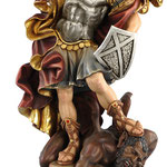 statua San Michele in legno - busto