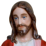 statua Sacro Cuore di Gesù braccia aperte cm 110 -volto