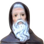 statua Sant' Antonio Abate cm 32 - volto