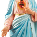 statua Sacro Cuore di Maria cm 130 - mani